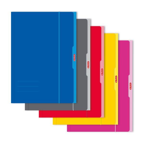Sammelmappe A3 farbig sortiert rot, gelb, pink, grau, blau