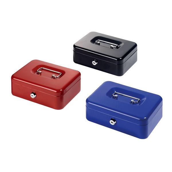 Geldkassette Metall groß 20,5x15x7,5 cm farbig sortiert
