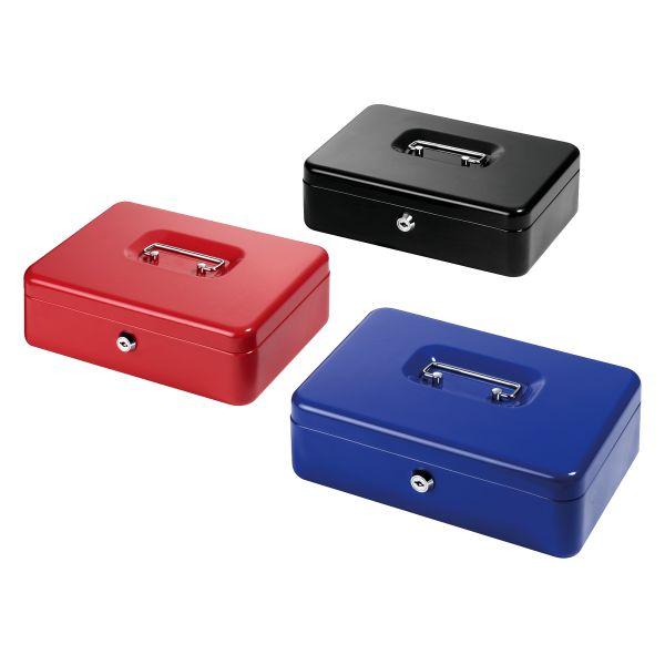 Geldkassette Metall groß 25,5x18,5x8 cm farbig sortiert
