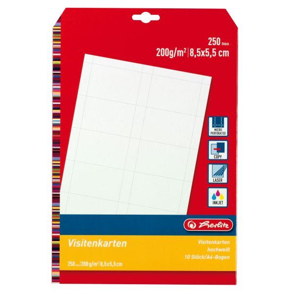 Visitenkarte blanko 200g 25 Blatt à 10 Stück