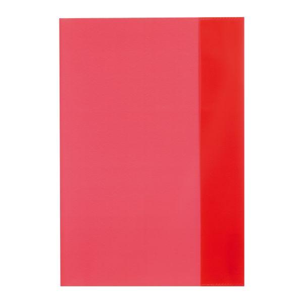 Hefthülle A5 transparent rot