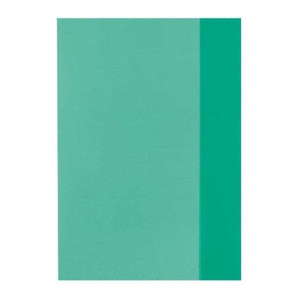 Hefthülle A5 transparent grün