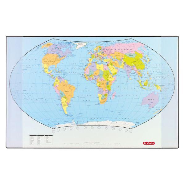 Schreibunterlage 68x44 cm Weltkarte