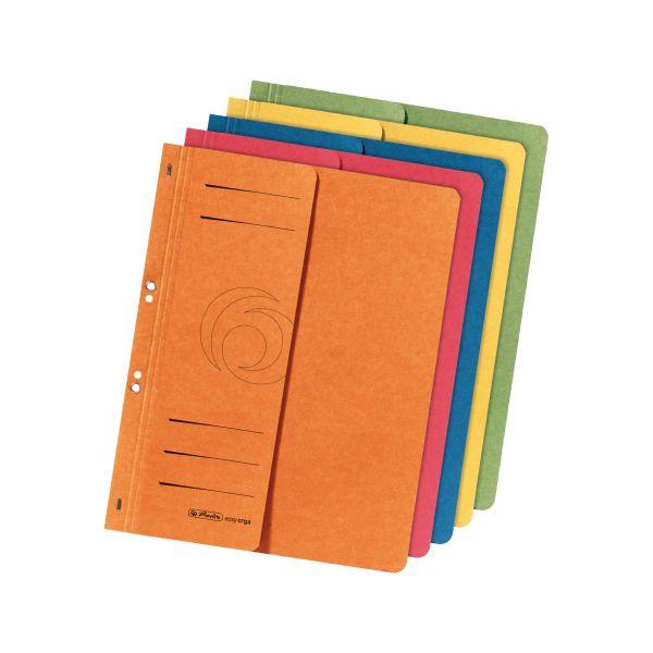 Ösenhefter A4 1/2-Vorderdeckel farbig sortiert 5er Packung
