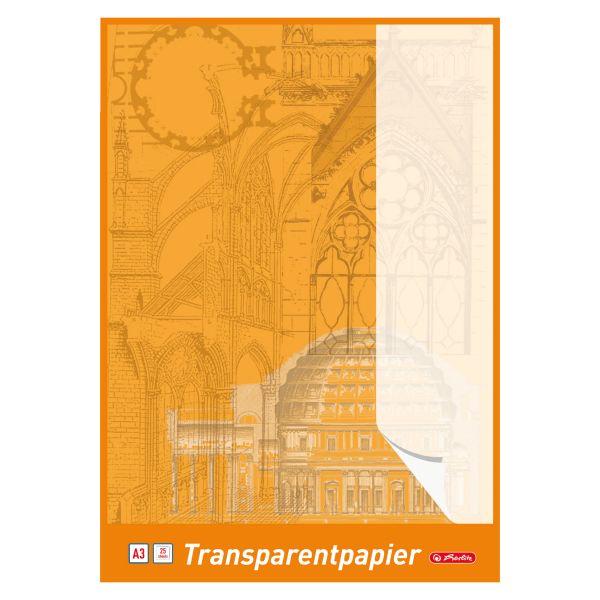 Transparentpapierblock A3 25 Blatt