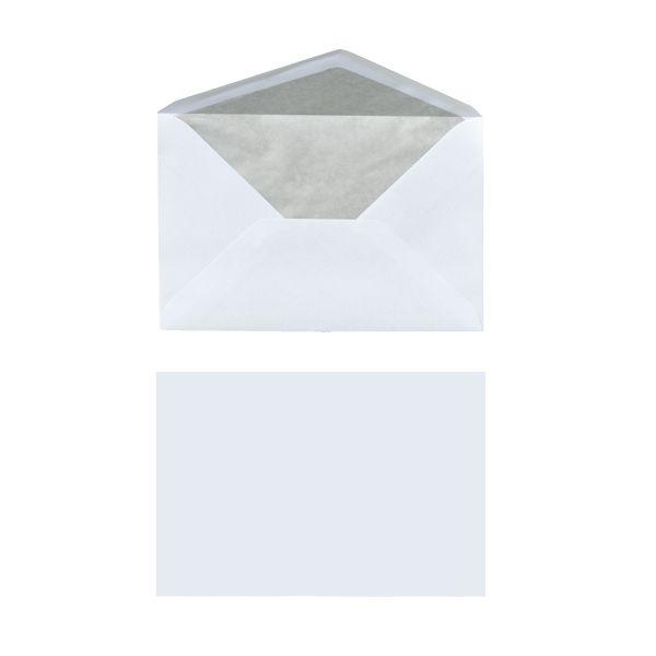 Briefumschlag C6 nassklebend mit Seidenfutter weiß 25er Packung