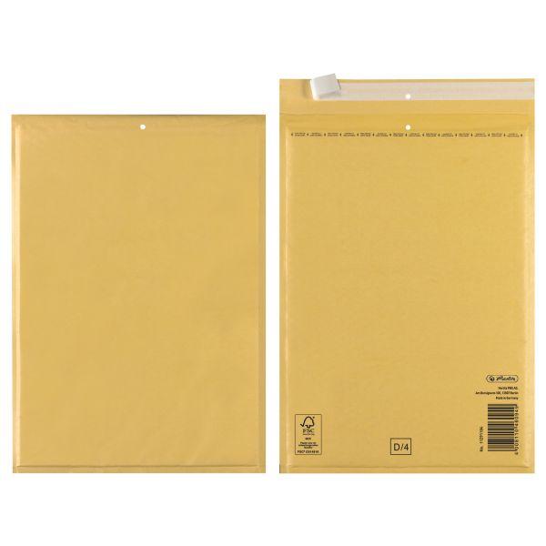 Luftpolstertasche D 20x27 cm haftklebend braun FSC Mix 3er Packung