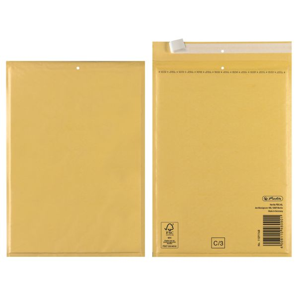 Luftpolstertasche C 17x22 cm haftklebend braun FSC Mix 10er Packung
