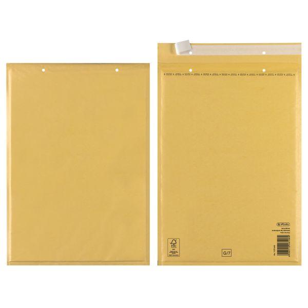 Luftpolstertasche G 25x34cm haftklebend braun FSC Mix 10er Packung