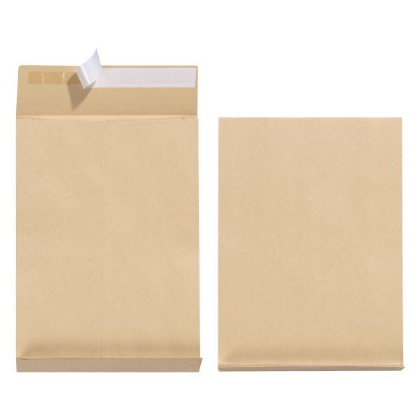 Faltentasche B4 130g haftklebend mit 4cm-Seitenfalte braun 25er PK