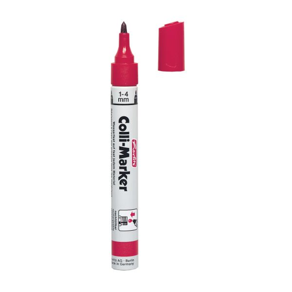 Colli Marker 1-4mm, rot, lose Ware Colli Marker 1-4mm, rot, lose Ware