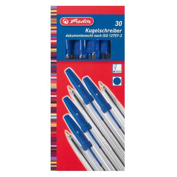 Kugelschreiber Büro blau 30 Stück