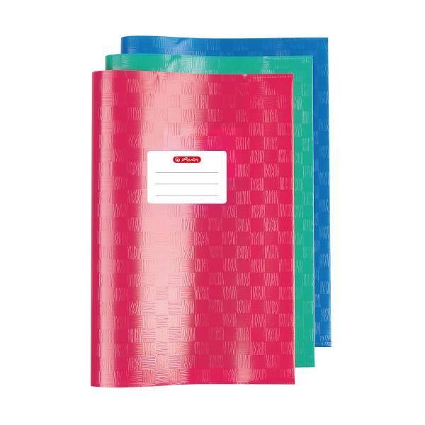 Hefthülle A4 Baststruktur farbig sortiert 3er Packung