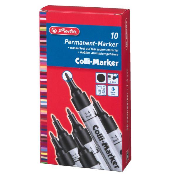 Colli Marker 1-4 mm schwarz 10 Stück in Faltschachtel