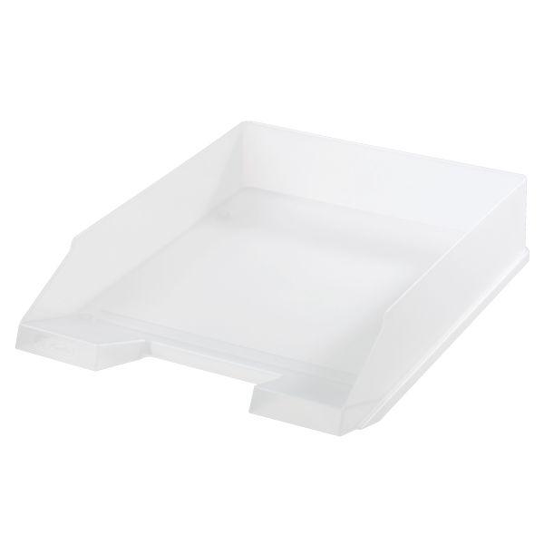 Ablagekorb A4-C4 classic weiß transluzent