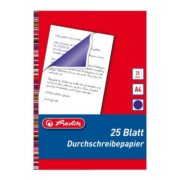 Durchschreibepapier A4 25 Blatt