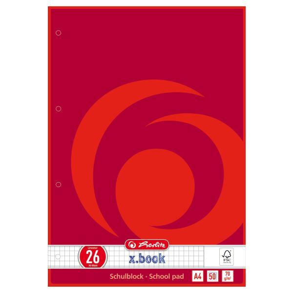 Schulblock A4 50 Blatt FSC Mix Lineatur 26 1 Motiv