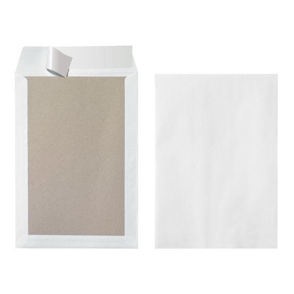 Versandtasche B4 130g Papprückwand haftklebend weiß 3er Packung
