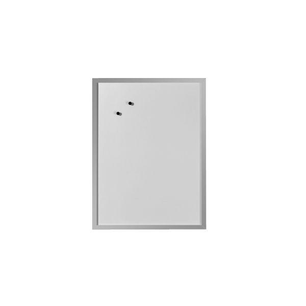 Whiteboard und Magnettafel 40x60cm mit Holzrahmen silberfarben