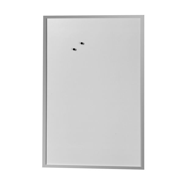 Whiteboard und Magnettafel 60x80cm mit Holzrahmen silber