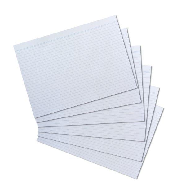 Lernkarten weiß Vokabelkarten Vokabelkartei blanko A4 Herlitz Karteikarten