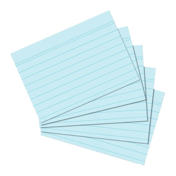 Karteikarte A5 liniert blau 100er Packung