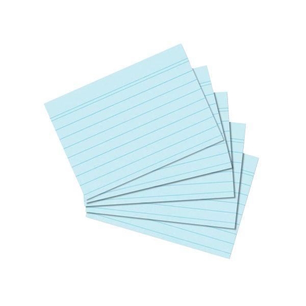 Karteikarte A7 liniert blau 100er Packung