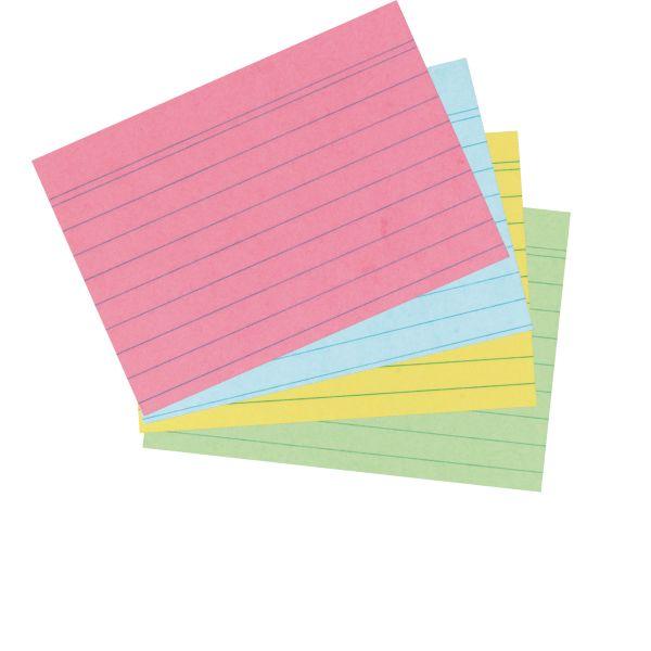Karteikarte A7 liniert farbig sortiert 200er Packung