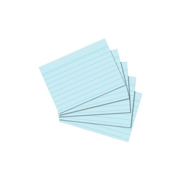 Karteikarte A8 liniert blau 100er Packung