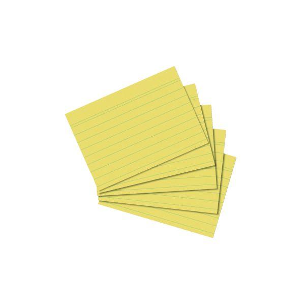 Karteikarte A8 liniert gelb 100er Packung