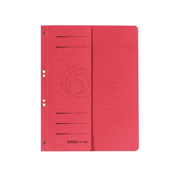 Ösenhefter A4 1/2-Vorderdeckel kaufmännische Heftung rot