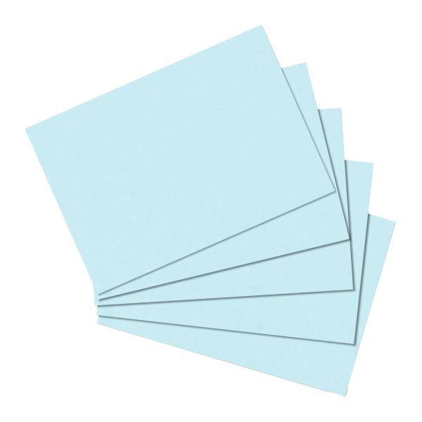 Karteikarte A6 blanko blau 100er Packung