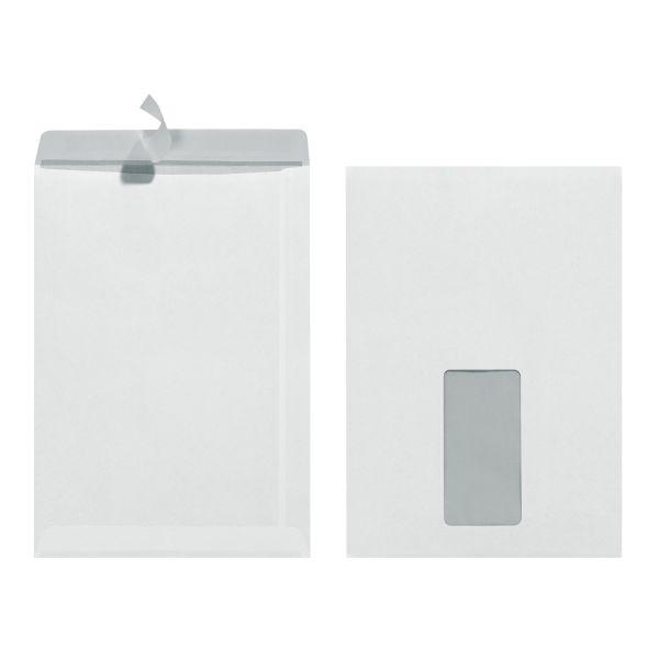 Versandtasche C5 90g haftklebend mit Fenster weiß 25er Packung