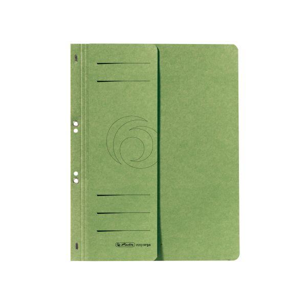 Ösenhefter A4 1/2-Vorderdeckel kaufmännische Heftung grün
