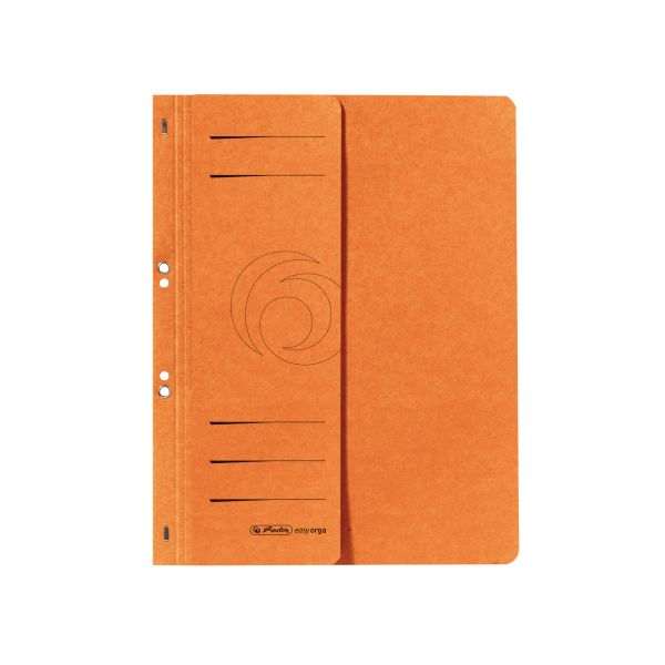 Ösenhefter A4 1/2-Vorderdeckel kaufmännische Heftung orange
