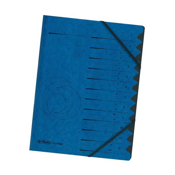 Ordnungsmappe 1-12 Quality blau