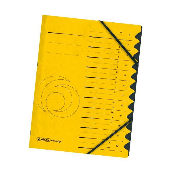 Ordnungsmappe 1-12 Quality gelb