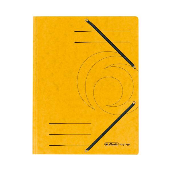Einschlagmappe mit Gummizug A4 Quality gelb