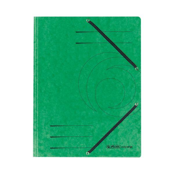 Einschlagmappe mit Gummizug A4 Quality grün