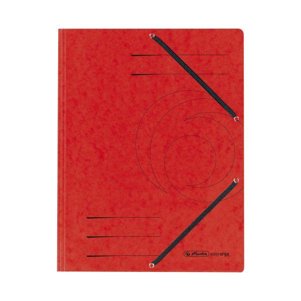 Einschlagmappe mit Gummizug A4 Quality rot