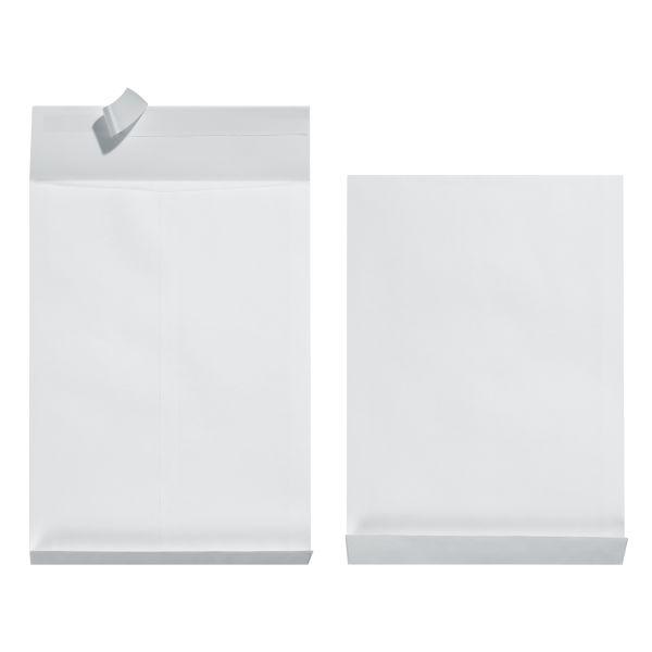 Faltentasche B4 130g haftklebend 4cm-Seitenfalte weiß 10er Packung