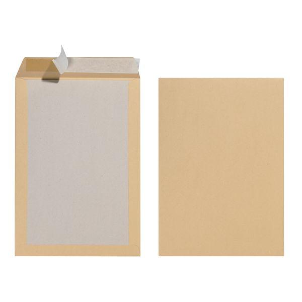 Versandtasche B4 130g mit Papprückwand haftklebend braun 10er Packung