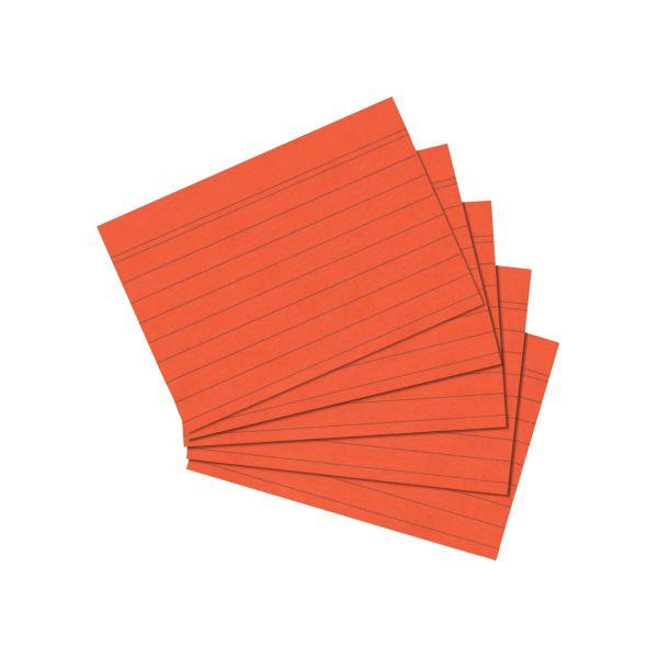 Karteikarte A7 liniert orange 100er Packung
