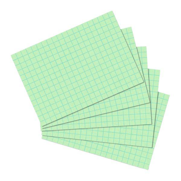 Karteikarte A6 kariert grün 100er Packung