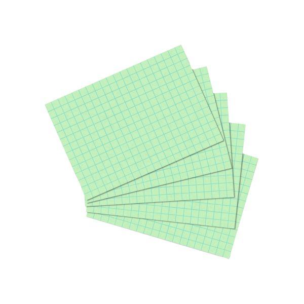 Karteikarte A7 kariert grün 100er Packung