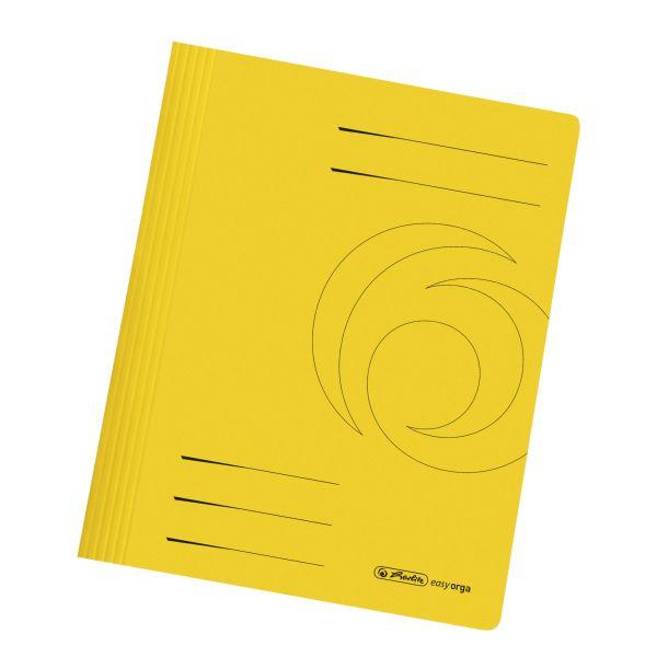 Schnellhefter A4 Karton intensiv gelb