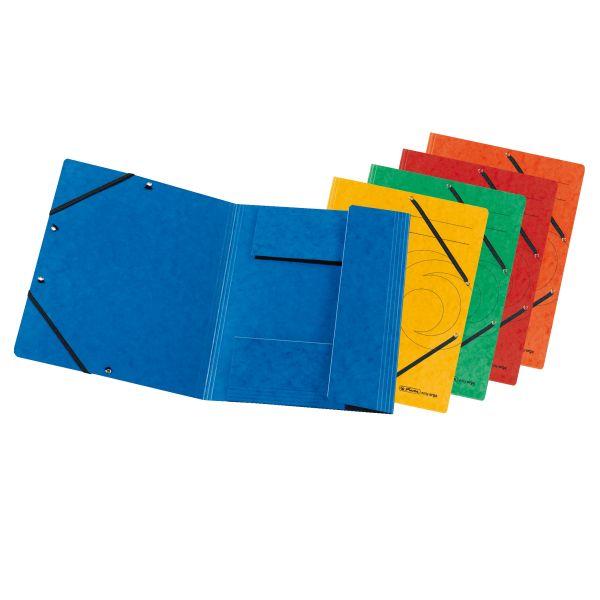 Einschlagmappe mit Gummizug A4 Quality farbig sortiert 10er