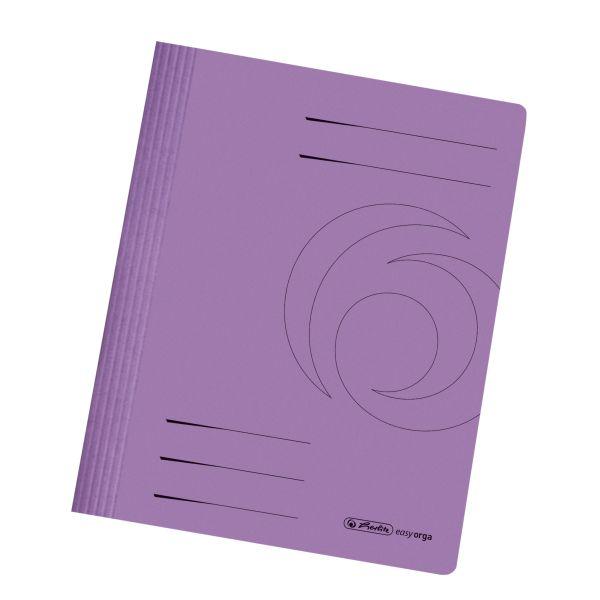 Schnellhefter A4 Karton gefaltet violett