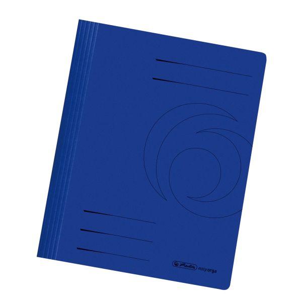 Schnellhefter A4 Karton gefaltet dunkelblau