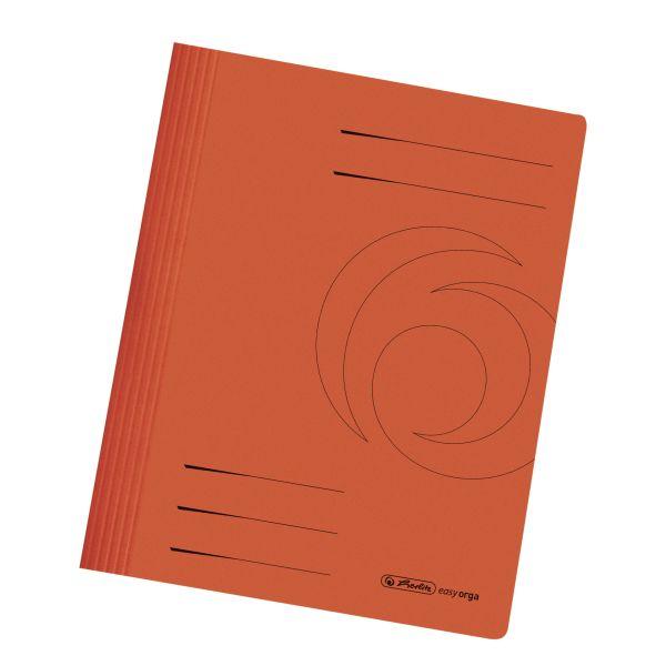Schnellhefter A4 Karton gefaltet orange